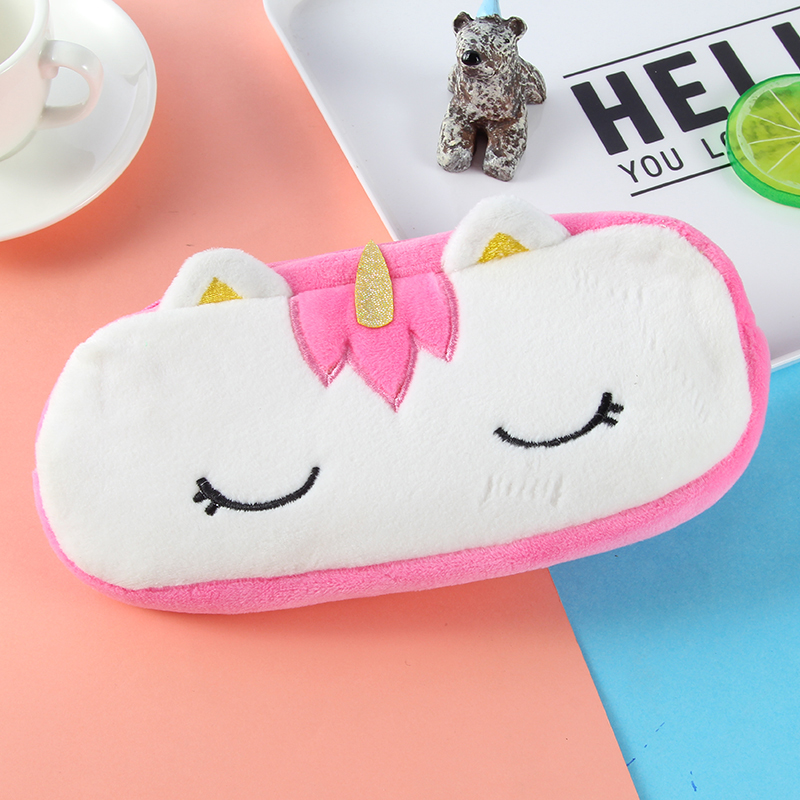 20CM kawaii unicorn unicorn large capacity zipper pencil bag cartoon stationery bag key ring pendant coin purse WJ024 in Plush Purses from Toys Hobbies