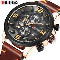 CURREN 8288 Top Brand Chronograph Quartz Watches Men Sport Fashion Casual Watch For Men Leather Wristwatches