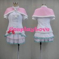 New Custom Made Japanese Anime Cute Love Live Snow Halation Koizumi Hanayo White Cosplay Costume Halloween