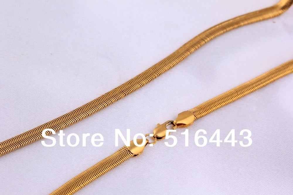 3 sztuk Top biżuteria moda 18 K pozłacane kobiet mężczyzna kostium węża naszyjniki biżuteria hurtowych wiele A978