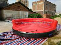 4 m red water inflatable UFO for sale, water drag sports game, with free air pump.