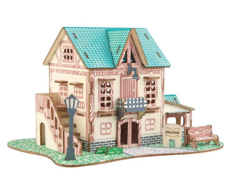 Моделирование звезды Модель 3d трехмерные деревянные головоломки игрушки для детей Diy ручной работы деревянные пазлы