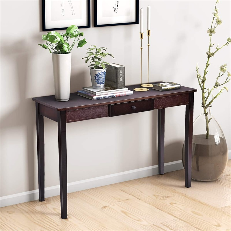 Wood Entryway Side Sofa Accent Console Table HW56071