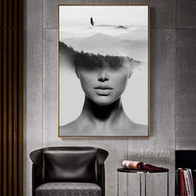 Abstract Figure Wall Art Canvas Painting Model Nordic Poster Pictures For Living Room Fashion Print Girls Women Scenery Unframed