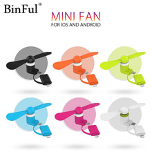 BinFul 100% Tested Portable 2 in 1 Micro Mini USB gadget fan for Android OTG for Iphone 5 5s 6 6s 7 plus 8 Cooling Fan