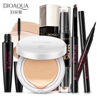 BIOAQUA Make up 5 Pcs/Set Beginners Charm Repair Concealer Makeup BB Cream Eyeliner And Rotating Mascara Waterproof Mascara