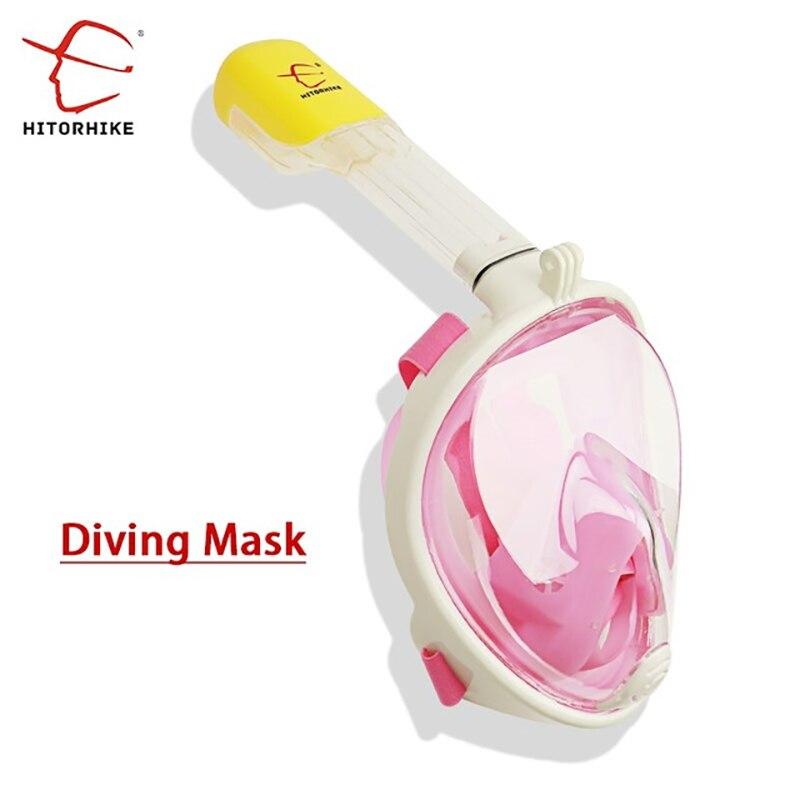 Snorkeling Diving Mask Set Full Face Snokel Mask Underwater Swimming Training Scuba Mergulho Snorkeling Mask For Gopro Camera