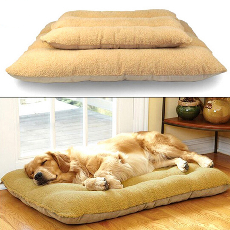 soft large pet dogs mat washable thick warm winter pet travel mat kennel dog bed detachable