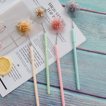 36PCS/LOT Creative Neutral Pen Custom Lace Flower Star Color Rod Student Small Fresh Gel Cute Stationery