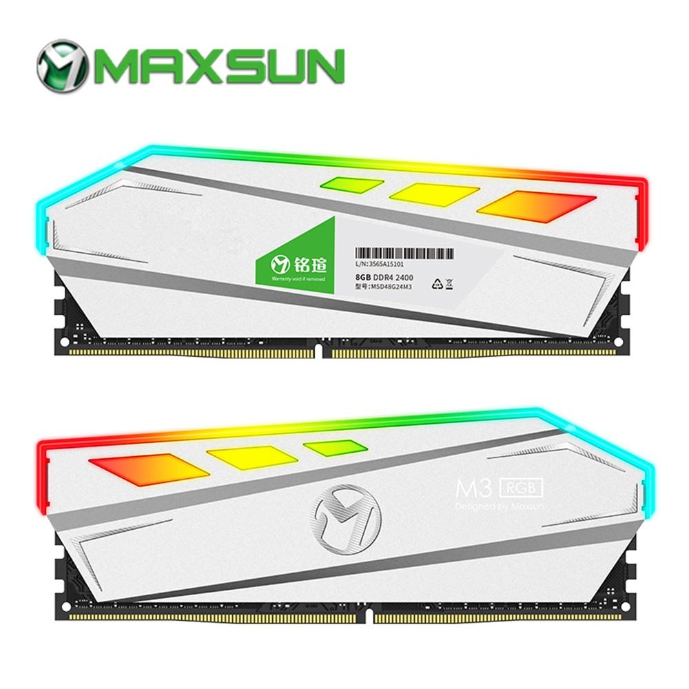 Maxsun rgb iluminação ram ddr4 8 gb memória 2666 mhz interface tipo 288pin 17-17-39 1.2 v garantia de vida memoria ram ddr 4 pc
