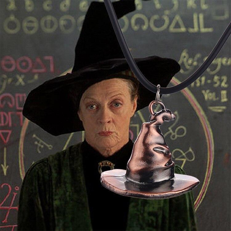 Hot Movie magic hat vintage necklace 12 pcs/lot wholesale wizard Magician hat necklaces & pendants men women jewelry gift