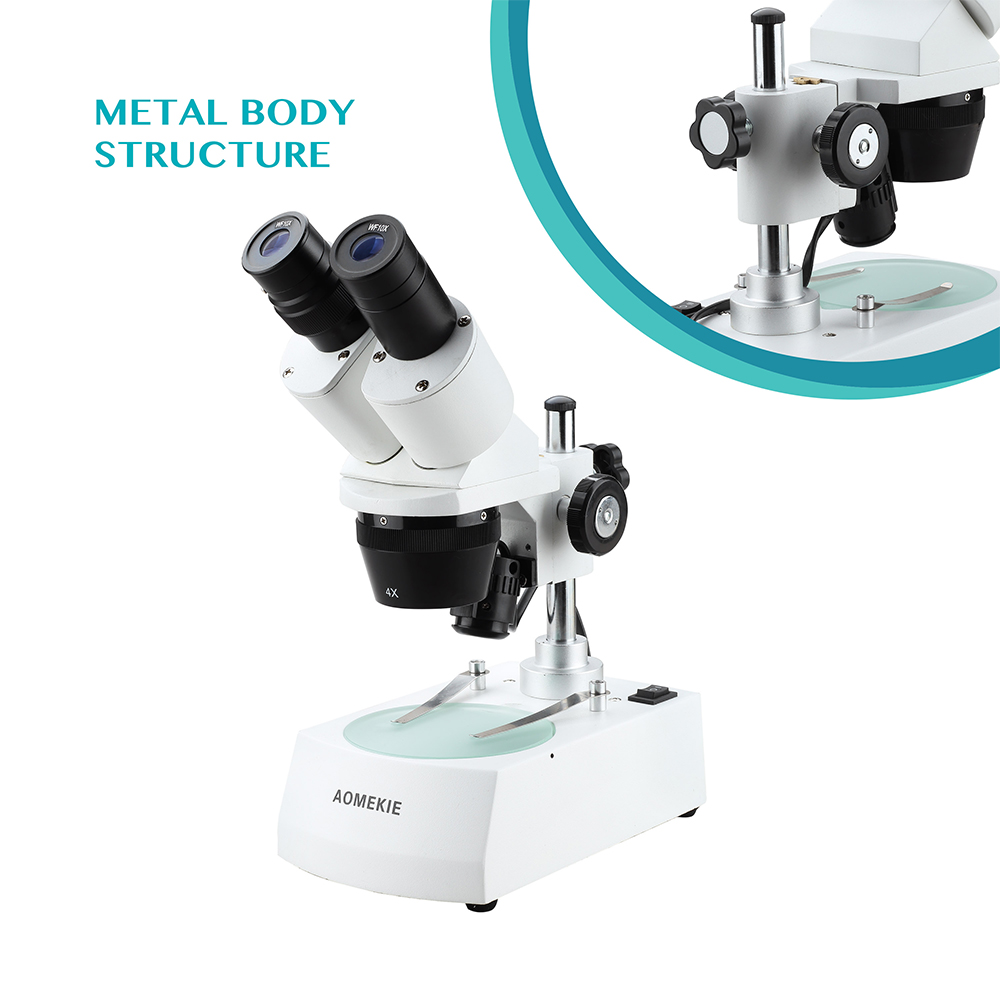 AOMEKIE 20X / 40X Microscopio stereo industriale Binoculare In alto a - Strumenti di misura - Fotografia 4
