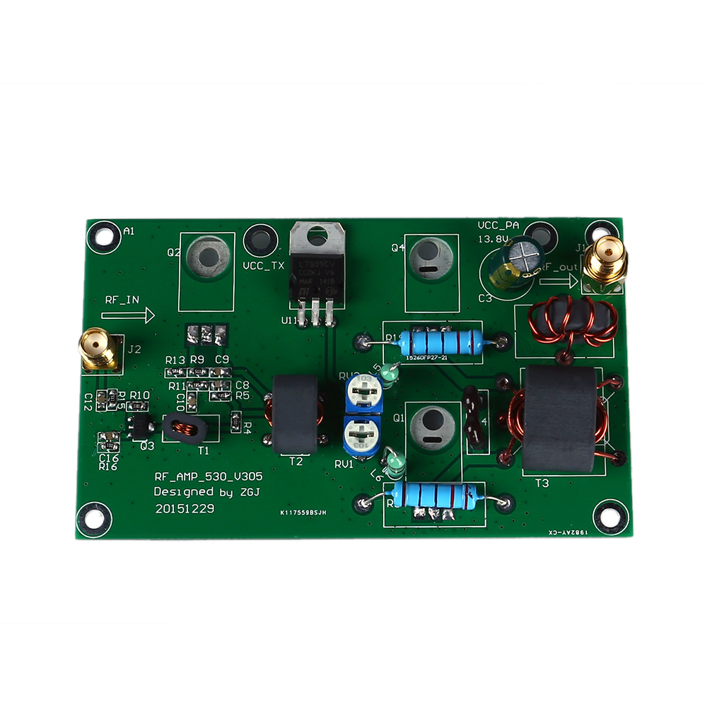45W SSB AM Linear Power Amplificateur CW FM Power Amplifier HF Radio Transceiver Shortwave DIY Kit Signal Amplification-in Instrument Parts & Accessories from Tools