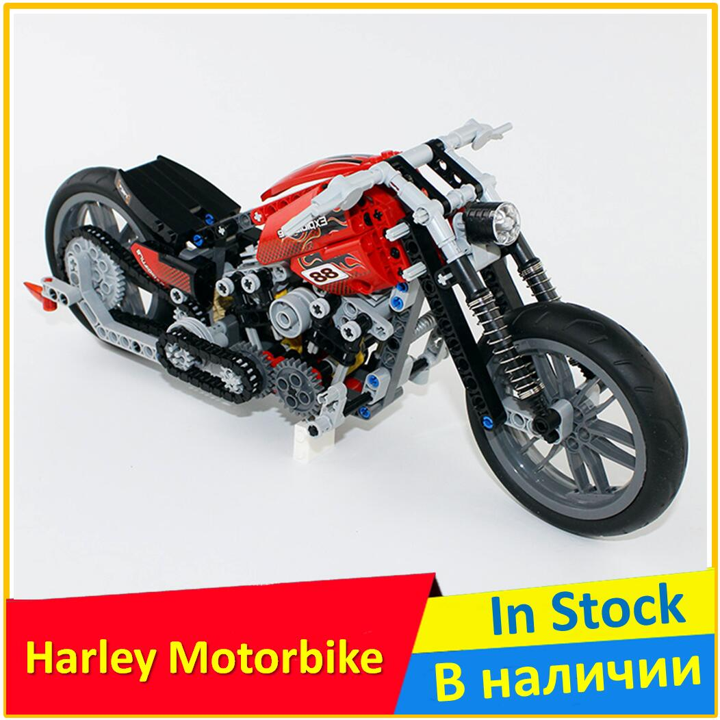 Building Blocks 3354 Speed Motorcycle Compatible legoing with Brick Model Educational Toys For Children