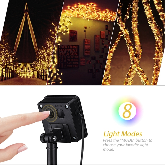Solar String Lights 22M 200 LED 8 Modes IP64 Waterproof Outdoor Lights Christmas Lights Solar Powered String Starry Lights