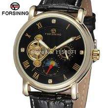 FSG800M3G1 men Automatic self- wind classic round  watch with black genuine leather strap gift box whole sale free shipping