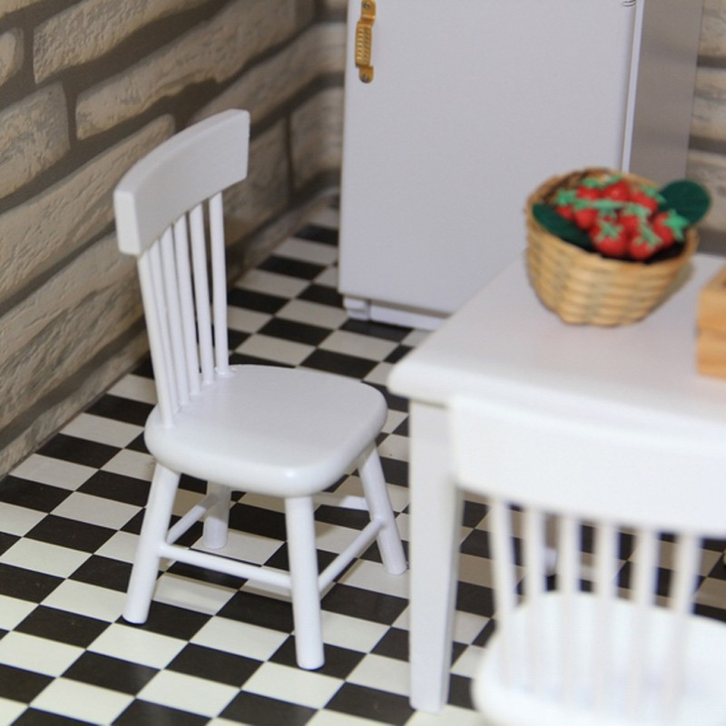 Dining table and chair set doll house 5