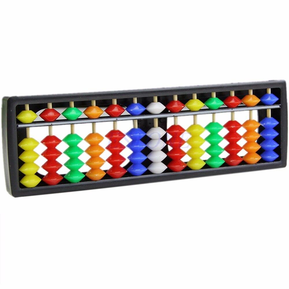 Портативный Арифметика Soroban Разноцветные Бусы Математика Расчета Китайский Abacus