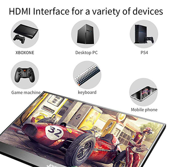 13.3 15.6 inch 4K Portable Monitor 2HDMI DP USB-C 3840x2160 IPS LCD 60FPS Video Gaming Monitor for Raspberry Pi PS3/PS4/Xbox 360 1