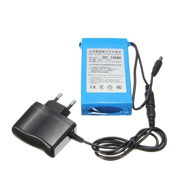 6800 mAh pour DC 12 V Super portable interrupteur Rechargeable batterie Lithium-ion prise US pour caméras caméscopes