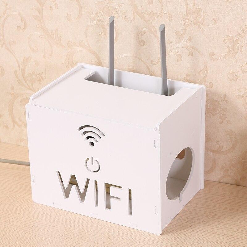Creative sans fil routeur cadre mur boîte fil rack boîte de rangement en bois wifi routeur étagère maison orgainzer
