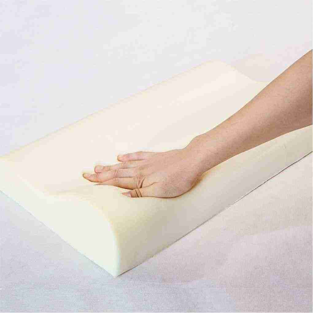 Bamboo Fiber Slow Rebound Sleep Memory Absorb Sweat Foam Cervical Health Care Single Pillow 35