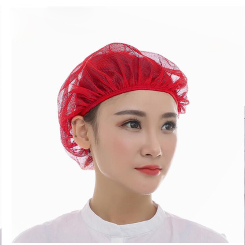 5 Pieces Chef Net Hat Cook Caps Kitchen Health Work Hats Canteen Restaurant Food Service Bakery Baking Female Breathable Cap