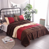 3 pcs Bed Duvet Home Textiles Luxury Bedding Plaid Quilt Sets Summer Quilted Printed Comforter Filled Autumn edding Filler F