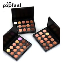 Popfeel Mini 15 Colors Makeup Concealer Palette Matte Face Contour Foundation Cream Cosmetic Base Make Up