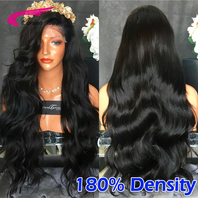 180% Density Brazilian Deep Body Wave Full Lace Human Hair Wigs For Black Women Lace Front Wigs With Baby Hair Glueless Wigs