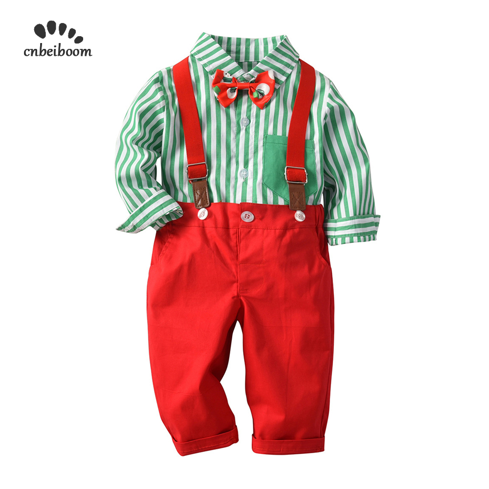 Baby boys Christmas clothing set Red green Toddler Kids ...