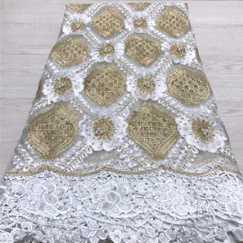 2019 neue Ankunft Französisch Spitze Stoff Blume Netzwerk Stickerei Afrikanische Guipure Tüll Schnürsenkel Tuch Fashion Nigerian spitze Stoff 515