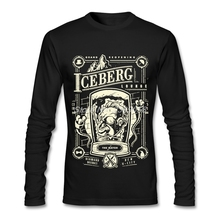 b7d2b10cdfc8 Mens T shirts Hipster Luxury Brand The Iceberg Lounge Tee Shirts Normal  Long Sleeve Man T