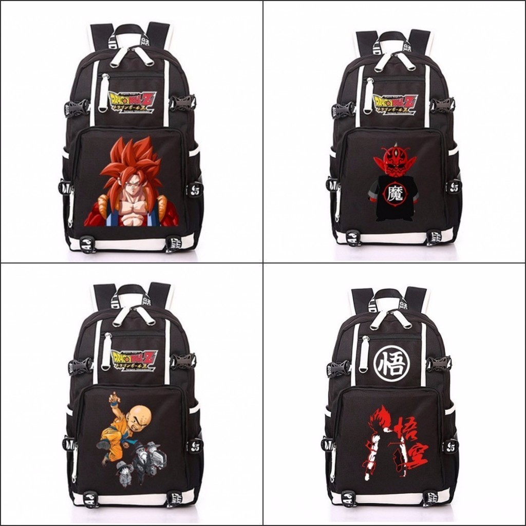 anime DragonBall Backpack Dragon Ball Z Son Goku Laptop Backpack Satchel School Fashion  ...