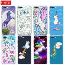 Silicone Cover phone Case for Huawei Honor 10 V10 3c 4C 5c 5x 4A 6A 6C pro 6X 7X 6 7 8 9 LITE Unicorn On Rainbow Jetpack(China)