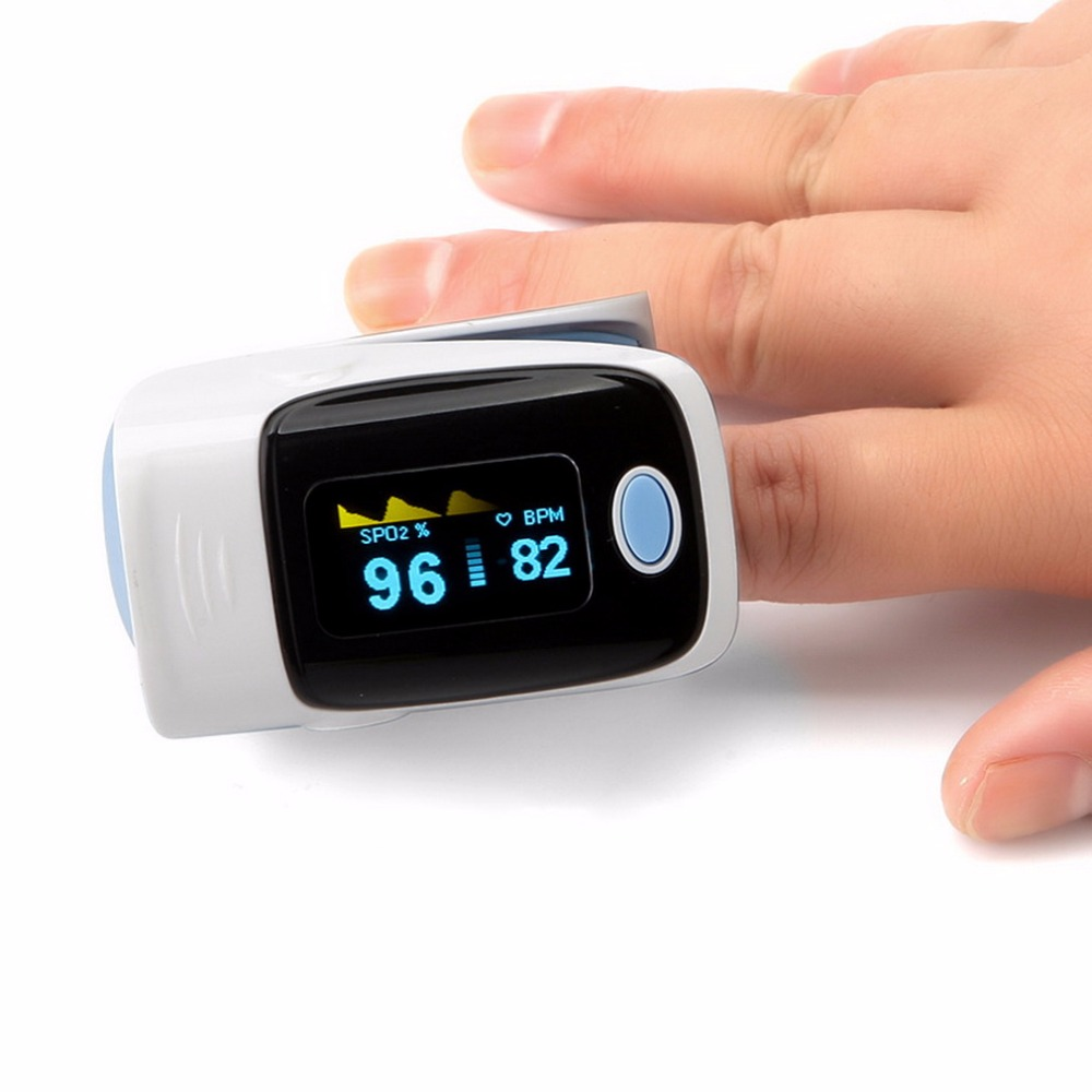 Portable Finger Oximeter Accuracy Durability Digital OLED Fingertip Pulse Oximeter SPO2 Pulse Rate Oxygen Monitor Health Care