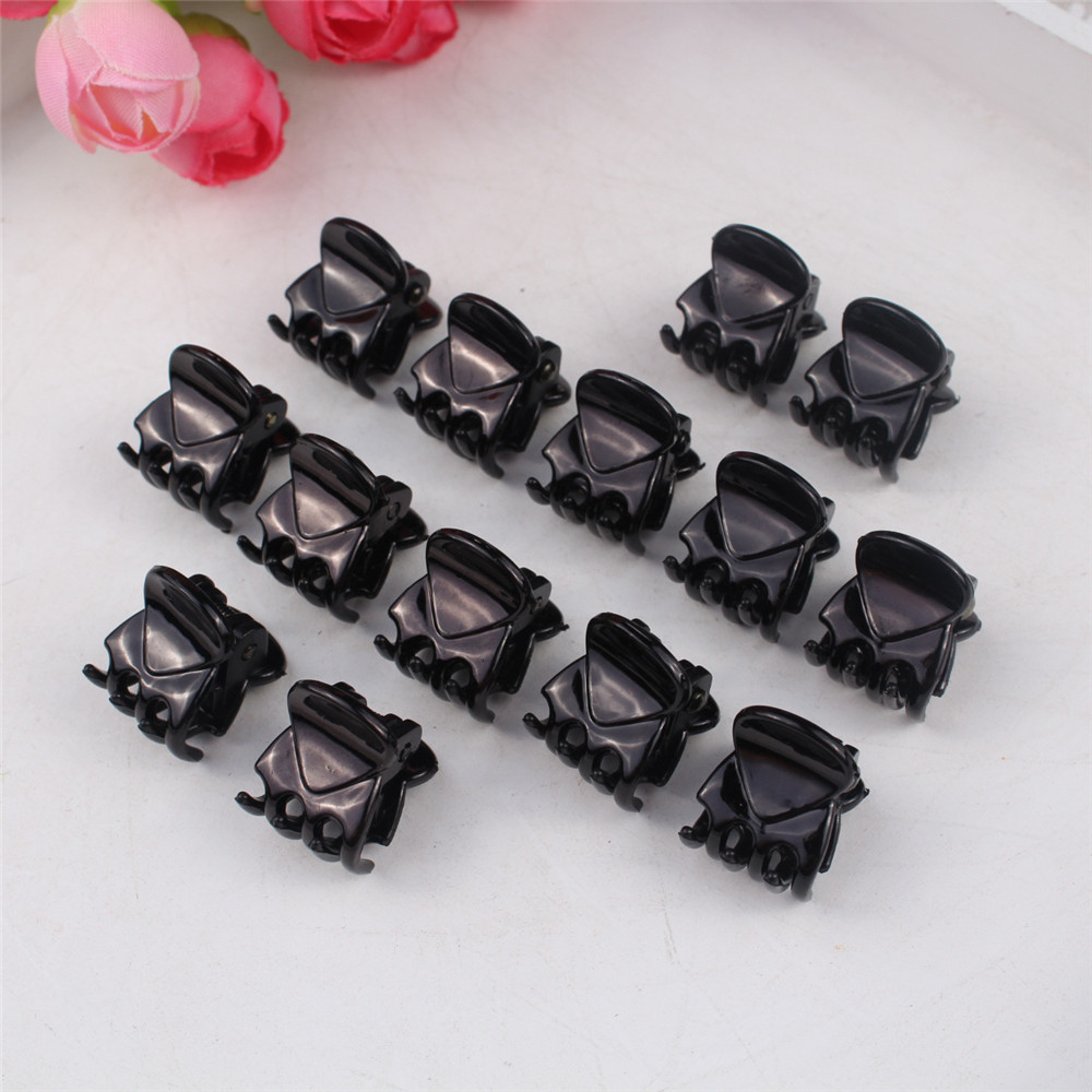 10 PCS Black Hair Clips Clipper Hairclip Barrettes For Women Ladies Plastic 6 Claws Hairpin Headwear Hair Styling Tools