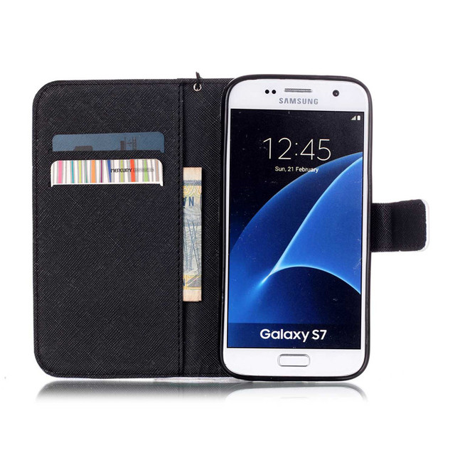 Brand 2016 PU Leather Case For Coque Samsung Galaxy S7  Cover