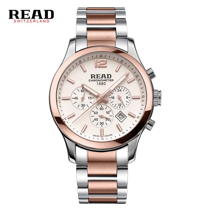 2017 READ Top Brand Men Quartz Watch 100 ATM Waterproof Luxury Fashion Watch Men Wristwatches Business Watch Relogio Masculino все цены