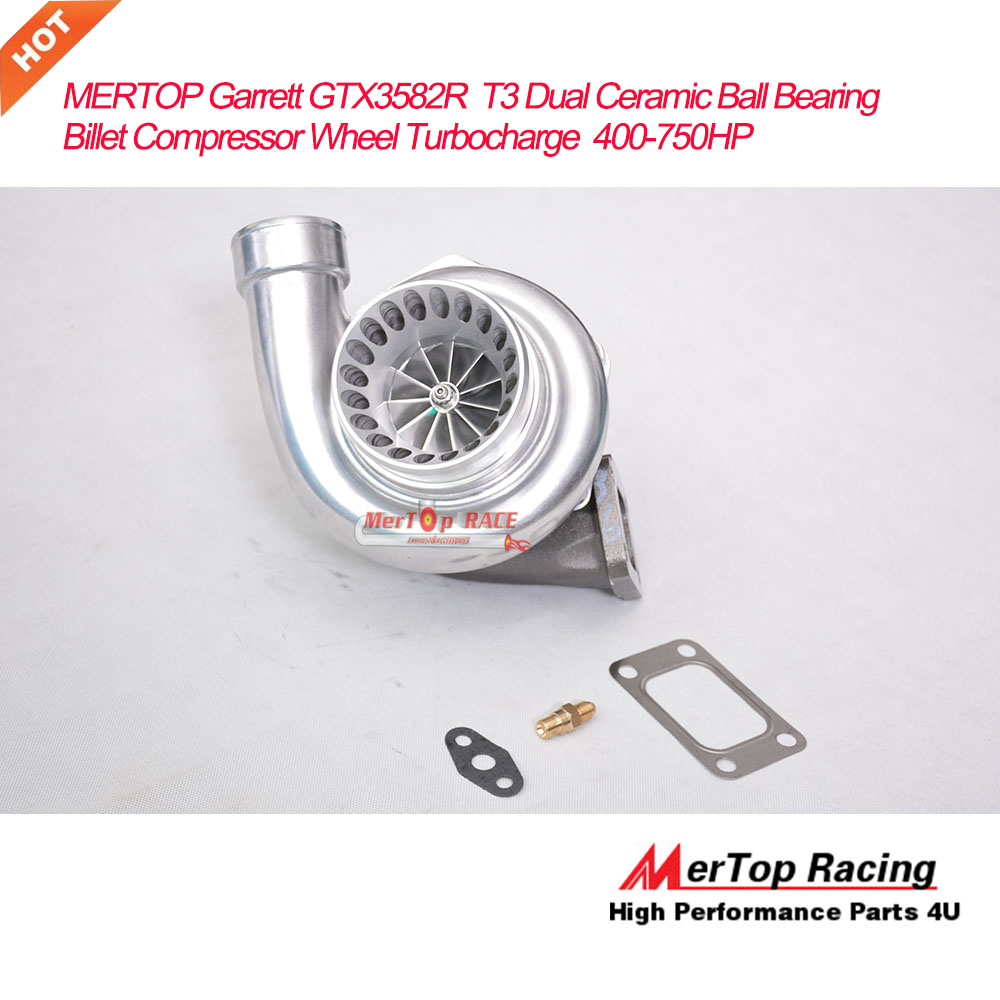 US $508 2  MERTOP T3 Dual Ceramic Ball Bearing Turbocharger GT35 GTX3582R  Universal Performance Billet Compressor Wheel TURBO 400 750HP-in