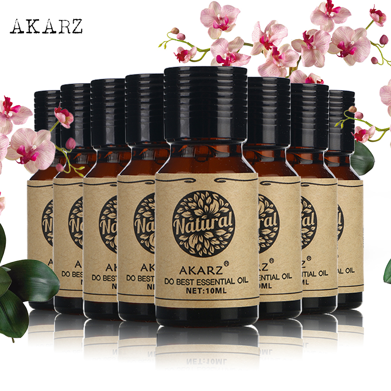 AKARZ Famous brand value meals Tea Tree rose peppermint lemon Sandalwood Geranium Osmanthus Cherry blossom essential Oils 10ml*8AKARZ Famous brand value meals Tea Tree rose peppermint lemon Sandalwood Geranium Osmanthus Cherry blossom essential Oils 10ml*8