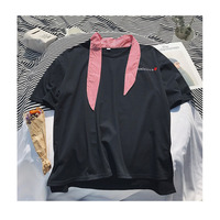 2018 Newest Men S Fashion Trend Embroidery Cotton Clothes Short Sleeves Loose Casual White Black Yellow