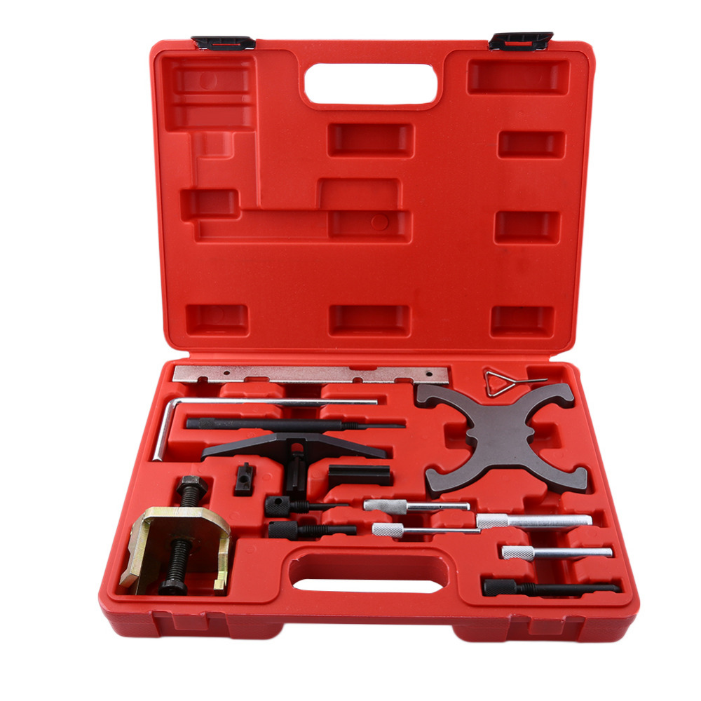 16pcs/set Car Engine Timing Tools Kit Camshaft Locking Setting Tool Car Repairing Tools for Car 1.4 1.6 1.8 2.0 t40047 camshaft position sensor tool engine timing set for audi vw 4 2l v8 q7
