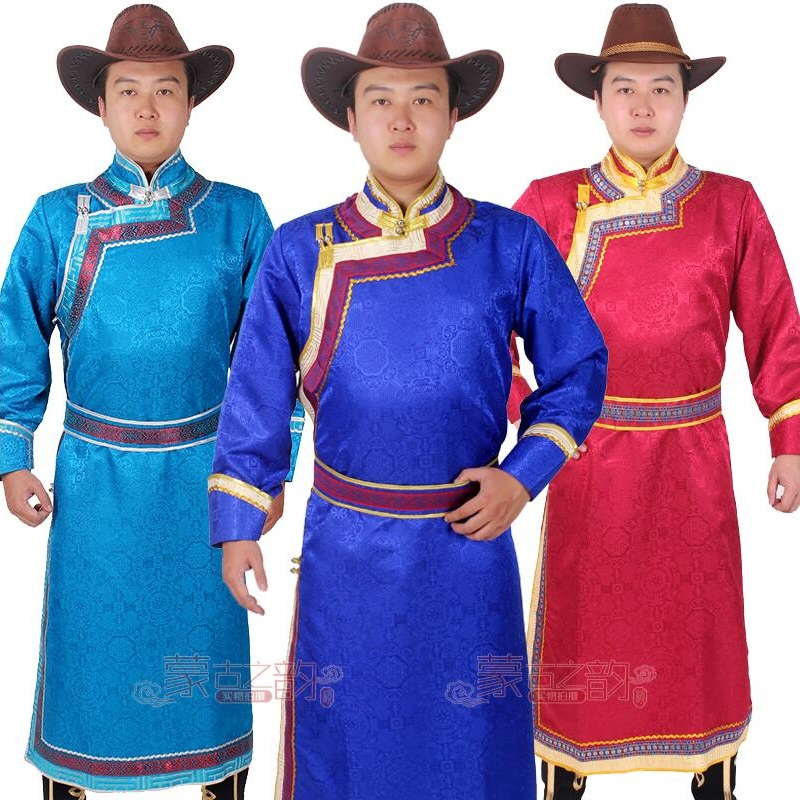 New Chinese national Costume Male gown Chinese Traditional living Clothing Mongolian Costumes For Men Robe Clothes