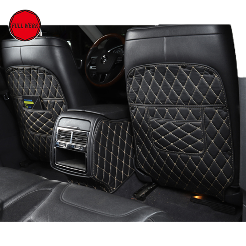 Leather Protective Anti Kicking Padded Child for VW Touareg 2011 2018 Car Seat Back Scuff Dirt