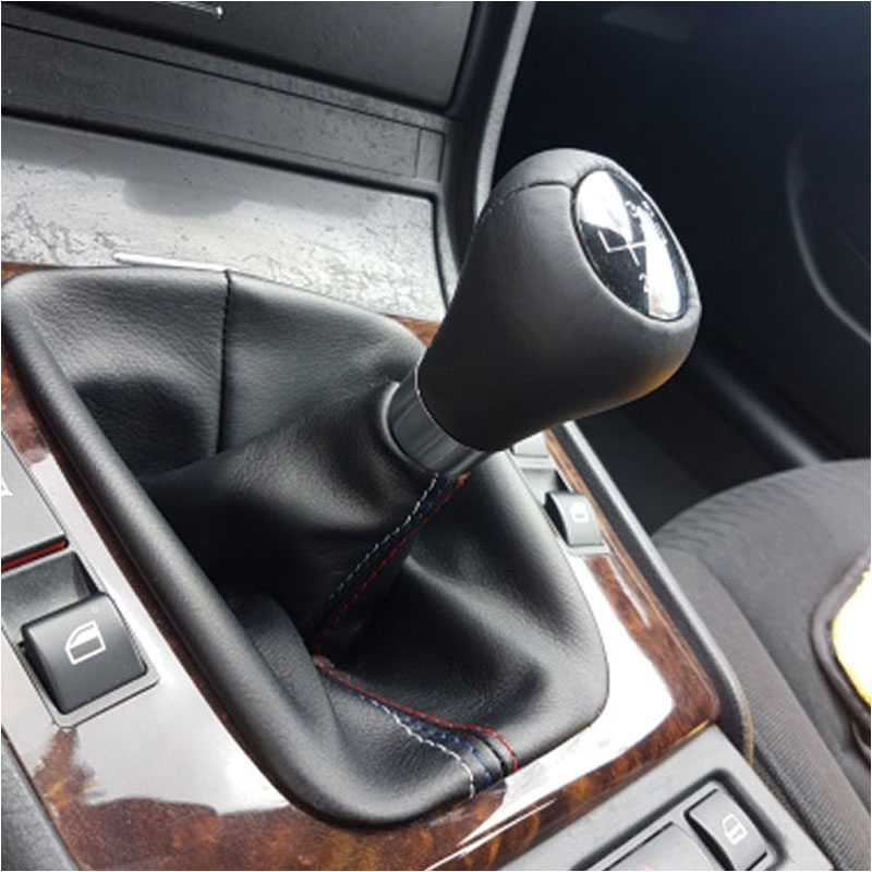 0aac17e413d1d US $7.59 34% OFF|Free Shipping Car Shift Gear Stick Manual Handbrake Gaiter  Shift Boot Black Leather Boot For BMW 3 Series E36 E46 M3 Car Styling-in ...
