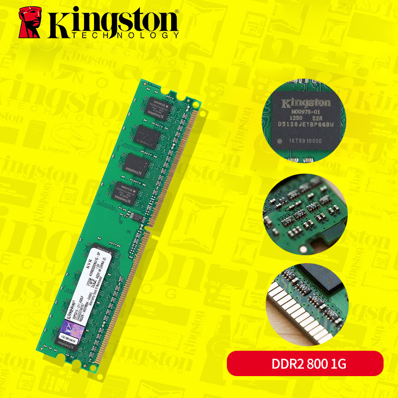 Original Kingston DDR2 sodimm1GB Memoria ddr2 667 sodimm ddr2 800mhz ram ddr 2 Memory KVR800D2N6/1G for Intel Computer Desktop ...