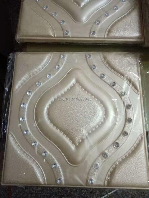 Moderne Wand Dekor Mit Diamanten Leder Fliesen D Wandpaneele Kunst - Leder fliesen kaufen