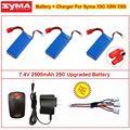 3x7.4 В 2000 мАч 25C Модернизированный Батарея + Зарядное Устройство Для Syma X8C X8W X8G RC Quadcopter
