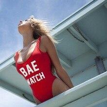 2016 Bikini Sexy One Piece Vintage Swim Wear S XL BAE Watch Bathing Suits Retro Swimsuit